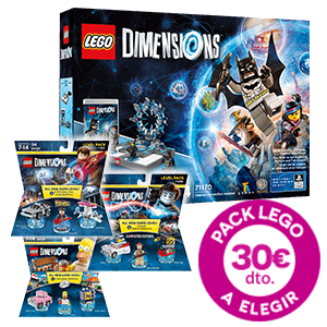 Lego Dimensions + Level Pack por 30€ menos