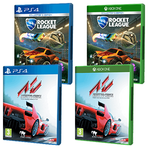 Assetto Corsa (PS4 o XONE) + Rocket League (PS4 o XONE)