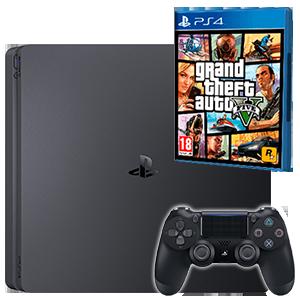PlayStation 4 Slim 500Gb Negra + GTA V