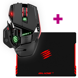 Mad Catz RAT8 Optical Gaming Mouse + Mad Catz GLIDE 4 Gaming Surface