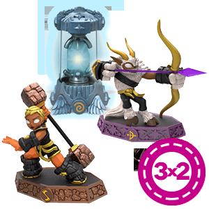 3x2 Figuras Skylanders Imaginators