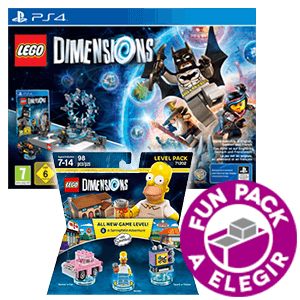 LEGO Dimensions Starter Pack PS4 + Level Pack Los Simpsons + Fun Pack a elegir