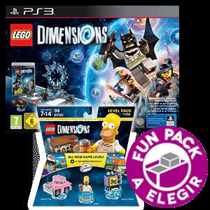 LEGO Dimensions Starter Pack PS3 + Level Pack Los Simpsons + Fun Pack a elegir