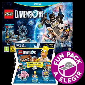 LEGO Dimensions Starter Pack WIIU + Level Pack Los Simpsons + Fun Pack a elegir