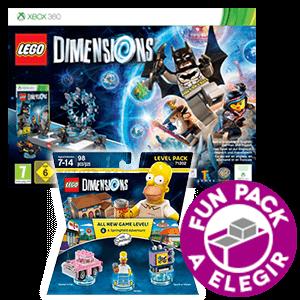 LEGO Dimensions Starter Pack X360 + Level Pack Los Simpsons + Fun Pack a elegir
