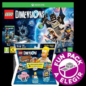 LEGO Dimensions Starter Pack XONE + Level Pack Los Simpsons + Fun Pack a elegir