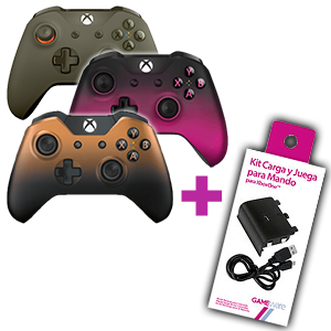 Controller Xbox One a elegir + Kit Carga y Juega GAMEware de regalo