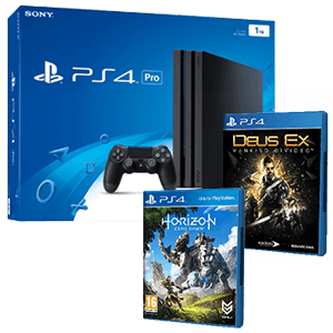 PlayStation 4 1TB Pro + Horizon Zero Dawn + Deus Ex: Mankind Divided