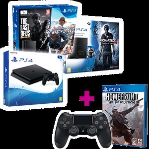 PlayStation 4 1Tb a elegir + Homefront + Dual Shock 4 V2 Negro