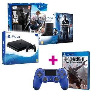 PlayStation 4 1Tb a elegir + Homefront + Dual Shock 4 V2 azul