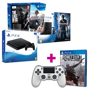 PlayStation 4 1Tb a elegir + Homefront + Dual Shock 4 V2 blanco