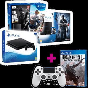 PlayStation 4 1Tb a elegir + Homefront + Dual Shock 4 V2 blanco