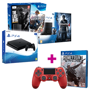 PlayStation 4 1Tb a elegir + Homefront + Dual Shock 4 V2 rojo