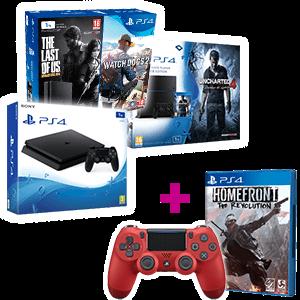 PlayStation 4 1Tb a elegir + Homefront + Dual Shock 4 V2 rojo