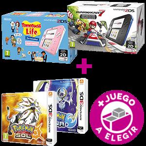Nintendo 2DS a elegir + Pokémon Sol o Pokémon Luna a elegir