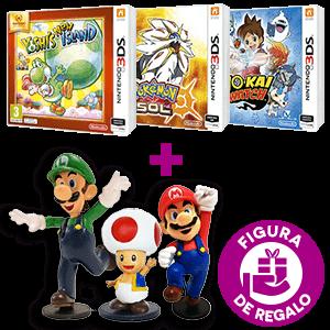 Juego Nintendo 3DS a elegir + figura Mario de regalo