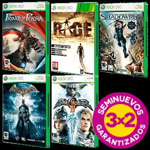 3x2 en juegos Xbox 360 Seminuevos