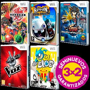 3x2 en juegos Wii Seminuevos