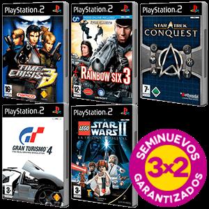 3x2 en juegos PlayStation 2 Seminuevos