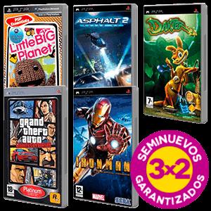 3x2 en juegos PSP Seminuevos