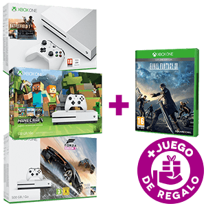 Xbox One S 500GB a elegir + Final Fantasy XV Day One Edition de regalo