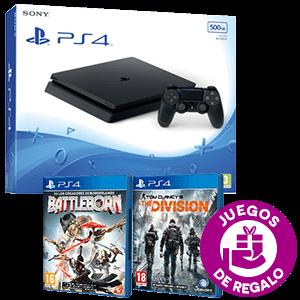PlayStation 4 500Gb Slim + The Division y Battleborn de regalo