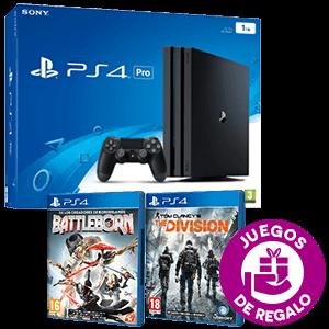 PlayStation 4 1TB Pro + The Division y Battleborn de regalo
