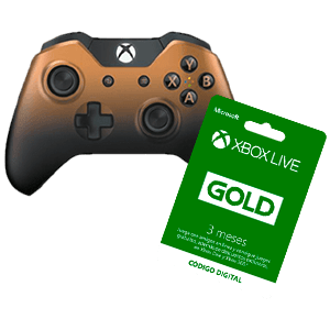 Controller Microsoft Copper Shadow + 3 Meses Live GOLD