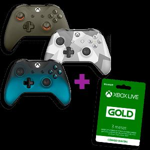 Controller Microsoft a elegir + 3 Meses Live GOLD