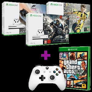 Xbox One 1TB a elegir + Grand Theft Auto V + Controller Inalámbrico Blanco V.2