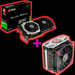 MSI GeForce GTX 1070 Quicksilver 8GB + Disipador MSI Core FROZR L de regalo