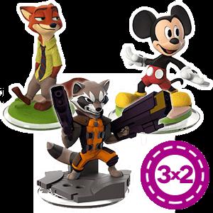 3x2 en figuras Disney Infinity