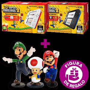 Nintendo 2DS + New Super Mario Bros 2 a elegir + Figura Surtido Mario