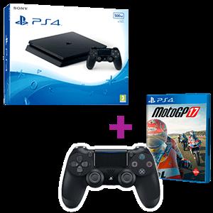 PlayStation 4 Slim 500GB + MotoGP17 + 2º DualShock 4 V2 Black