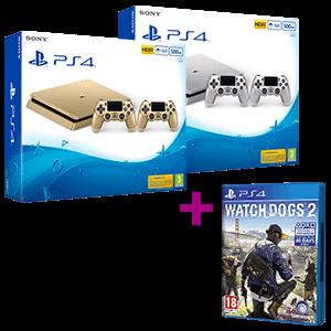 PlayStation 4 Slim 500GB Gold o Silver + Watch Dogs 2