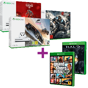 Xbox One S 1TB a elegir + GTA V + Halo Master Chief Collection