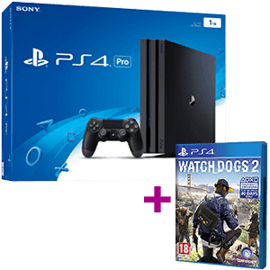 PlayStation 4 Pro 1TB + Watch Dogs 2