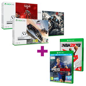 Xbox One S 1TB a elegir + PES 2018 o NBA 2K18