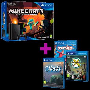 PS4 Slim 500Gb + Minecraft + PS Talents de regalo