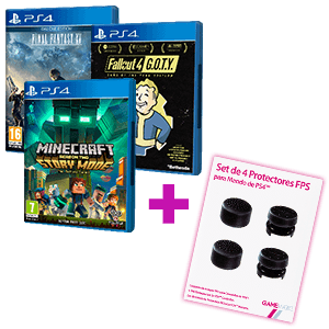 Juego PS4 a elegir + Set de 4 Protectores GAMEware de regalo
