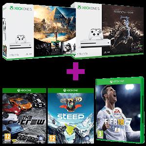 Xbox One S 1TB a elegir + STEEP + The Crew + juego a elegir
