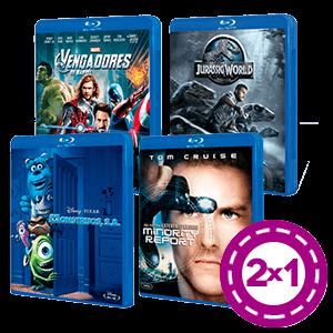 2x1 en Blu-rays