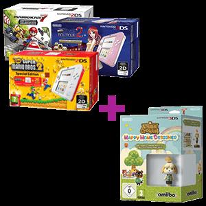 Nintendo 2DS a elegir + Animal Crossing HHD + amiibo Canela Edición Verano