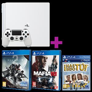 PlayStation 4 Pro 1TB Deluxe Blanca + Destiny 2 + Mafia III