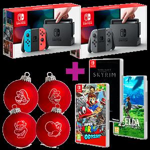 Nintendo Switch 2 Juegos A Elegir 2 Bolas Navidad Super Mario