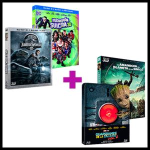Pack 2 Blu-Rays 3D a elegir por 14.95 euros