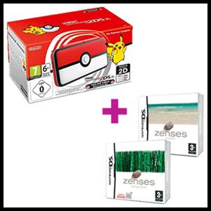 New Nintendo 2DS XL Edición Pokéball + Zenses: Ocean Edition y Zenses: Rainforest Edition