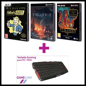 Juego PC a elegir + GAMEware MK0GW Teclado Gaming