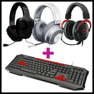 Auriculares a elegir + Teclado GAMEWare GK2