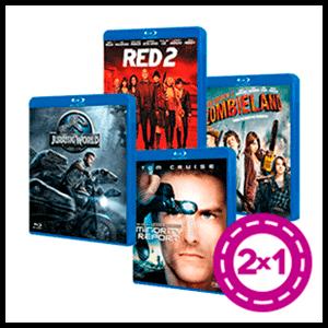 2x1 en películas Blu-Ray